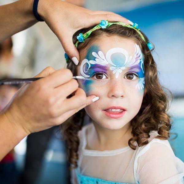 Kinderschminken Kinderfeier Unterhaltung Genf Bazinga Parties