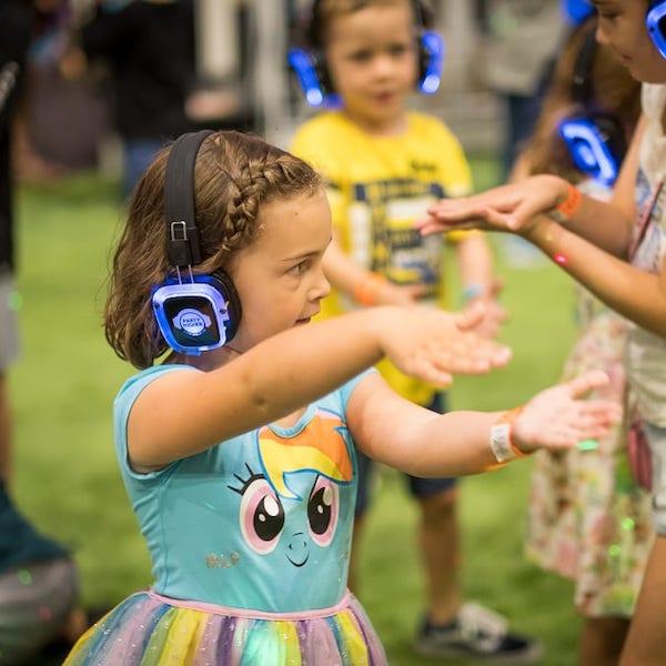 Stille Disco Kinderfeier Unterhaltung Genf Bazinga Parties